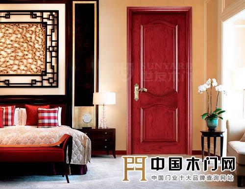 欧式家具搭配红色门