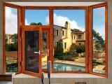 星派铝合金门窗95非断桥平开窗-金橡木