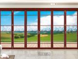 75重型折叠门13-1003刨花柚木