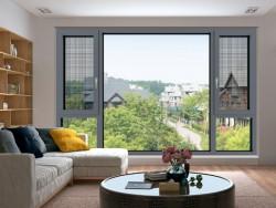 荣高铝合金窗-CP120窗纱一体系统断桥平开窗