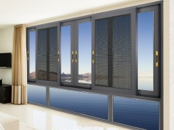 126系列窗纱一体铝合金推拉窗
