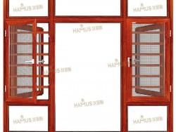 汉慕斯门窗135断桥窗纱一体平开窗
