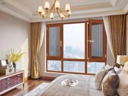 90断桥窗纱一体平开窗 窗纱一体平开窗图片