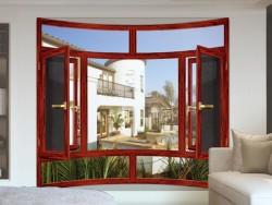 汉诺微门窗100断桥窗纱一体平开窗