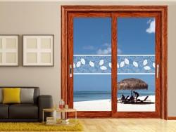 博仕门窗客厅门窗装修效果图片