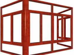 柏兹门窗109-89推拉窗(封阳台)