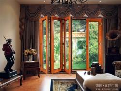 铝木橡木折叠门家装效果图 意群门窗图片 (1)