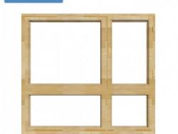 望美门窗130系列铝包木窗