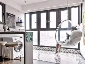 客厅与阳台打通,富奥斯门窗效果太漂亮了