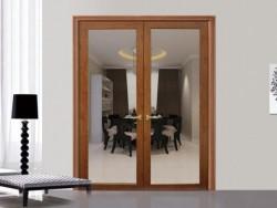 萨洛凯门窗72木铝复合内平开门