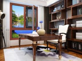 萨洛凯门窗铝木系列产品效果图片,中式风铝木产品装修图