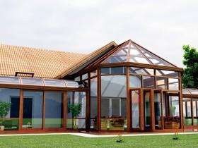 新帝豪门窗现代风格简易阳光房装修效果图