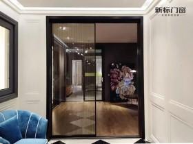 新标门窗简约风极窄边框推拉门窗装修图片