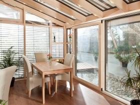 米兰之窗铝包木阳光房装修效果图