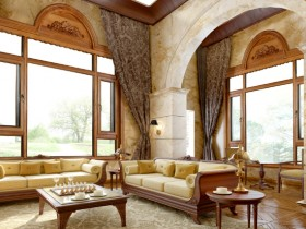 罗兰西尼铝木断桥窗纱一体外开窗装修效果图
