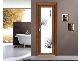 万加门窗浴室铝合金平开门装修效果图
