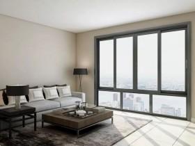 皇派门窗客厅铝合金推拉窗效果图