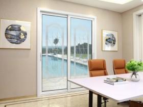 皇派门窗客厅铝合金推拉门装修图片