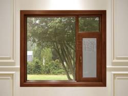 博乐木铝窗BL-118 钢纱一体断桥外开窗