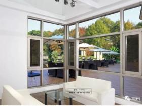 富轩门窗铝合金平开窗系列产品效果图