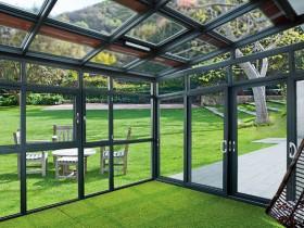富轩铝合金门窗阳光房系列产品装修图