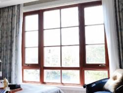 研几门窗-YH98铝木美式手摇窗外开窗