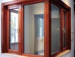 研几门窗-YH120铝木内开窗