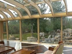 汉斯诺克弧形铝木复合阳光房
