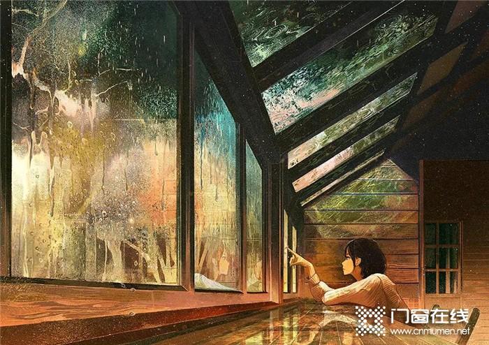 你与幸福之间的距离,就差一扇红橡树门窗