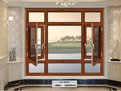 朗文德断桥铝门窗别墅阳台防盗窗户 隔音隔热铝合金玻璃平开窗