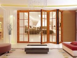 六扇名门全开折叠窗供应铝合金多扇折叠窗室内全开折叠窗