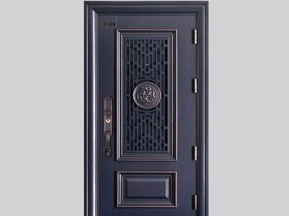 神将安全门-和谐铝门中门(仿铜)