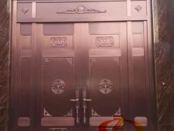 石家庄别墅铜门厂家 玻璃铜门价格 转转门控