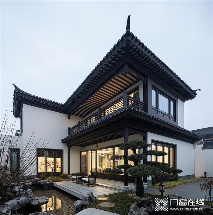 富轩新中式苏派合院,国人骨子里向往的别墅