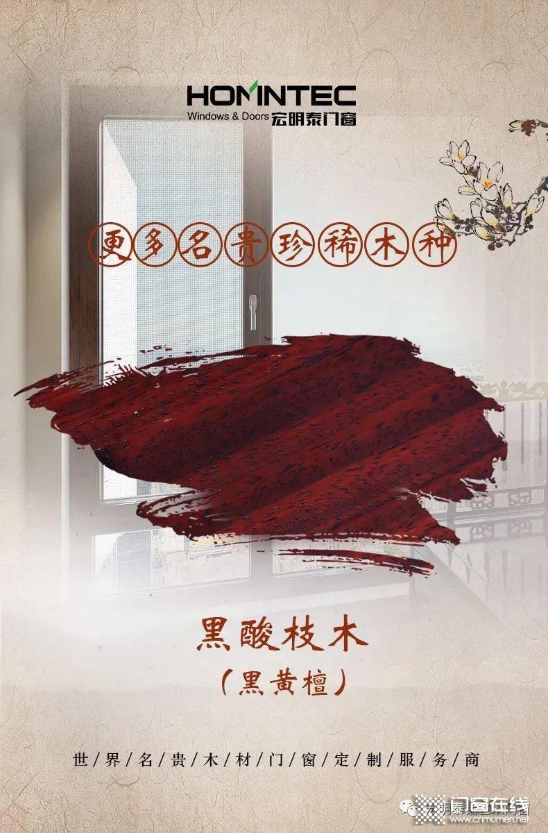 宏明泰【黑酸枝铝包木门窗】: 酸枝木中的黑珍珠!_2